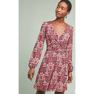 Maeve Paisley Belted Retro Chic Dress NWT